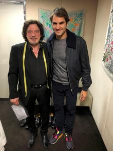 Meisterschneider Beldono Lucente und Roger Federer